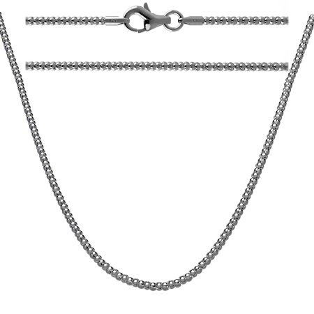 Oxidized Silver Jewellery - Sterling Silver Oxidized Popcorn Chain Necklace 30 inch