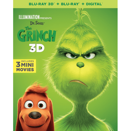 Illumination Presents: Dr. Seuss' The Grinch (3D Blu-ray + Blu-ray + - Halloween Grinch Full Movie