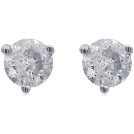 1/2 Carat T.W. Round Diamond 14kt White Gold Martini Stud Earrings with Gift Box, IGL Certified