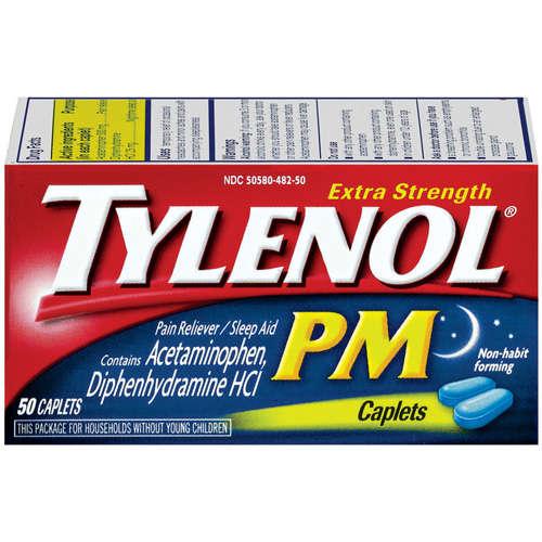 TYLENOL PM CAPLETS 50CT