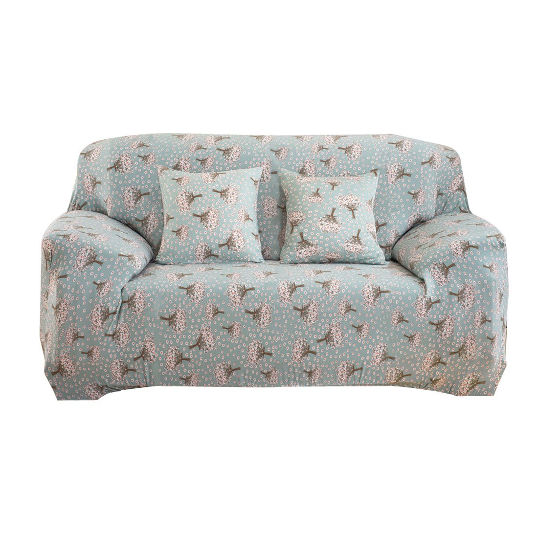 """Unique Bargains 57"""" - 72"""" Mult-color Sofa Cover Slipcovers Protector Stretch 2  Loveseat Hyacinth Pattern"""
