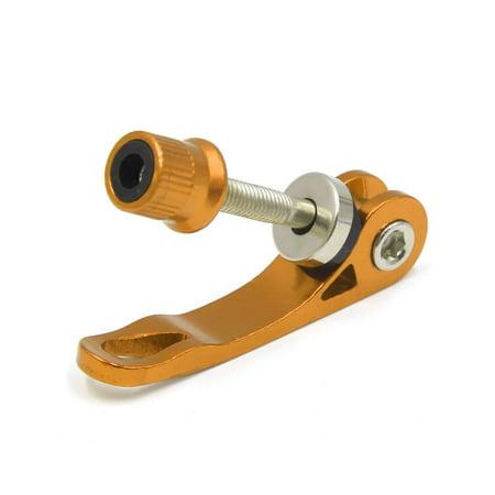 Yellow Aluminum Alloy Bicycle Bike Seatpost Clamp Quick Release Hub Skewer