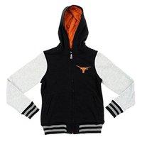 NCAA Youth Texas Longhorns Diamond Bezel Varsity Hoodie, Black