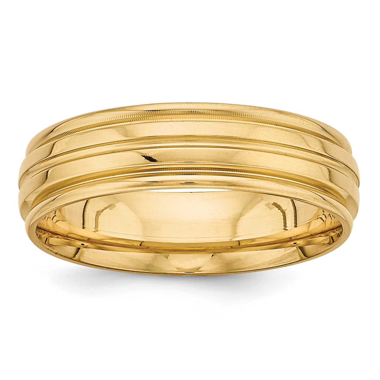 14K Yellow Gold Light Comfort Fit Fancy Band - image 3 of 3