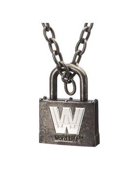 Official WWE Authentic John Cena Word Life Retro Chain Pendant Multi