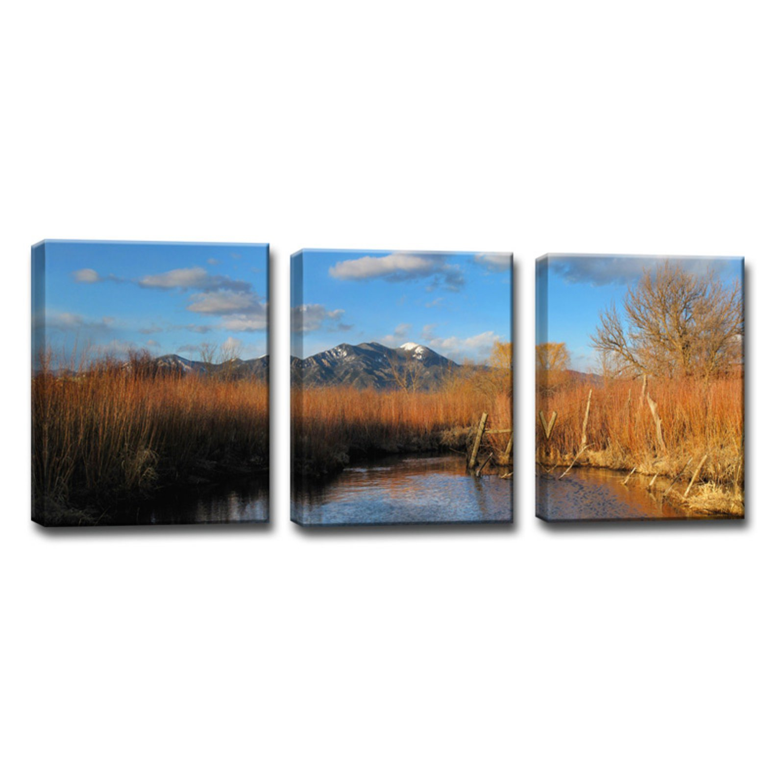Ready2HangArt Ranchitos Pond Wrapped Canvas Wall Art - Set of 3