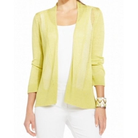 Alfani NEW Lime Green Womens Size PP Petite Open Front Cardigan ...