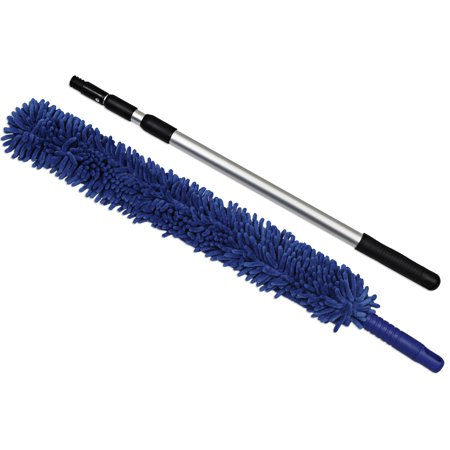 CleanAide® Handheld Microfiber Flex Duster with Telescopic Pole