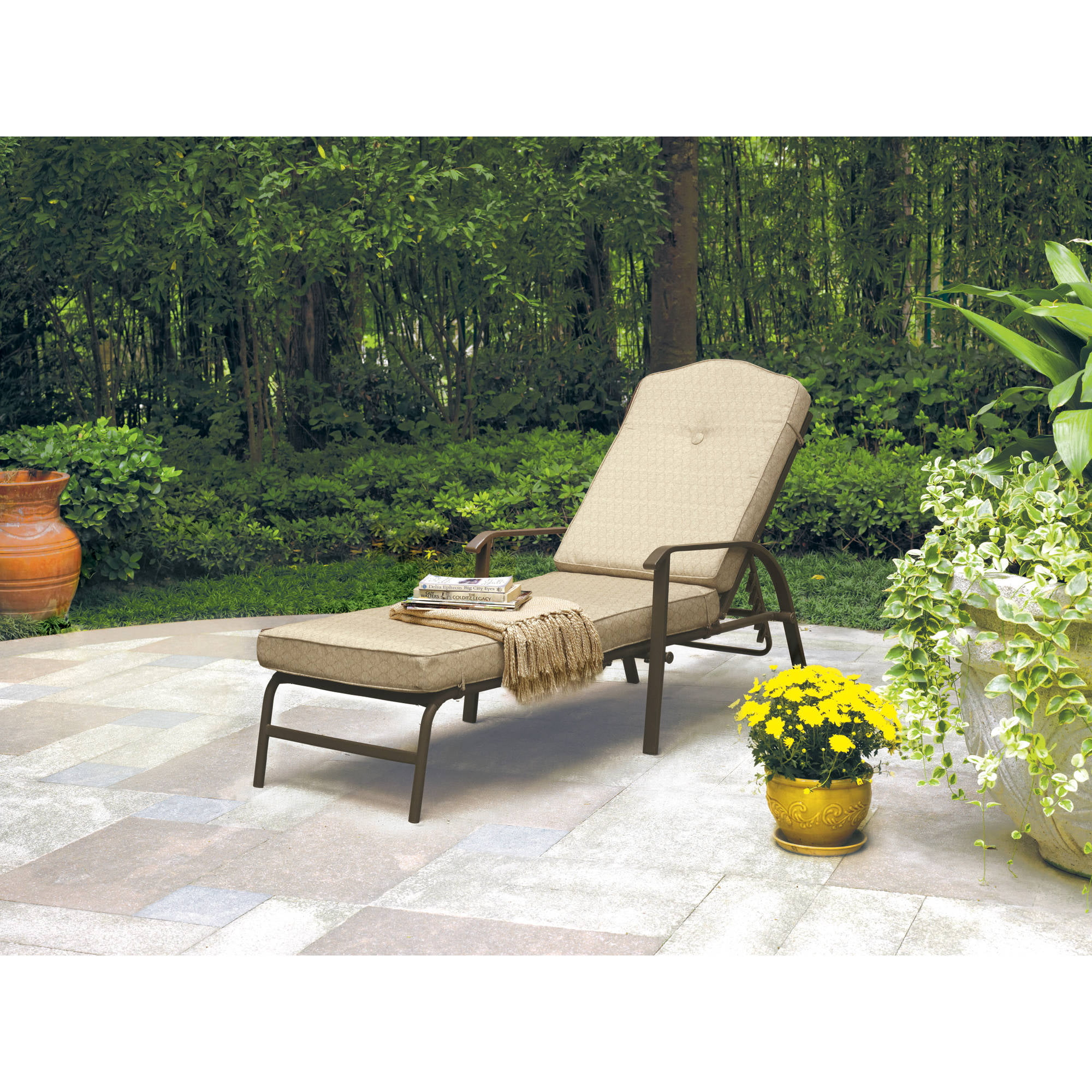 Mainstays Woodland Hills Chaise Lounge Walmartcom - Woodland patio furniture