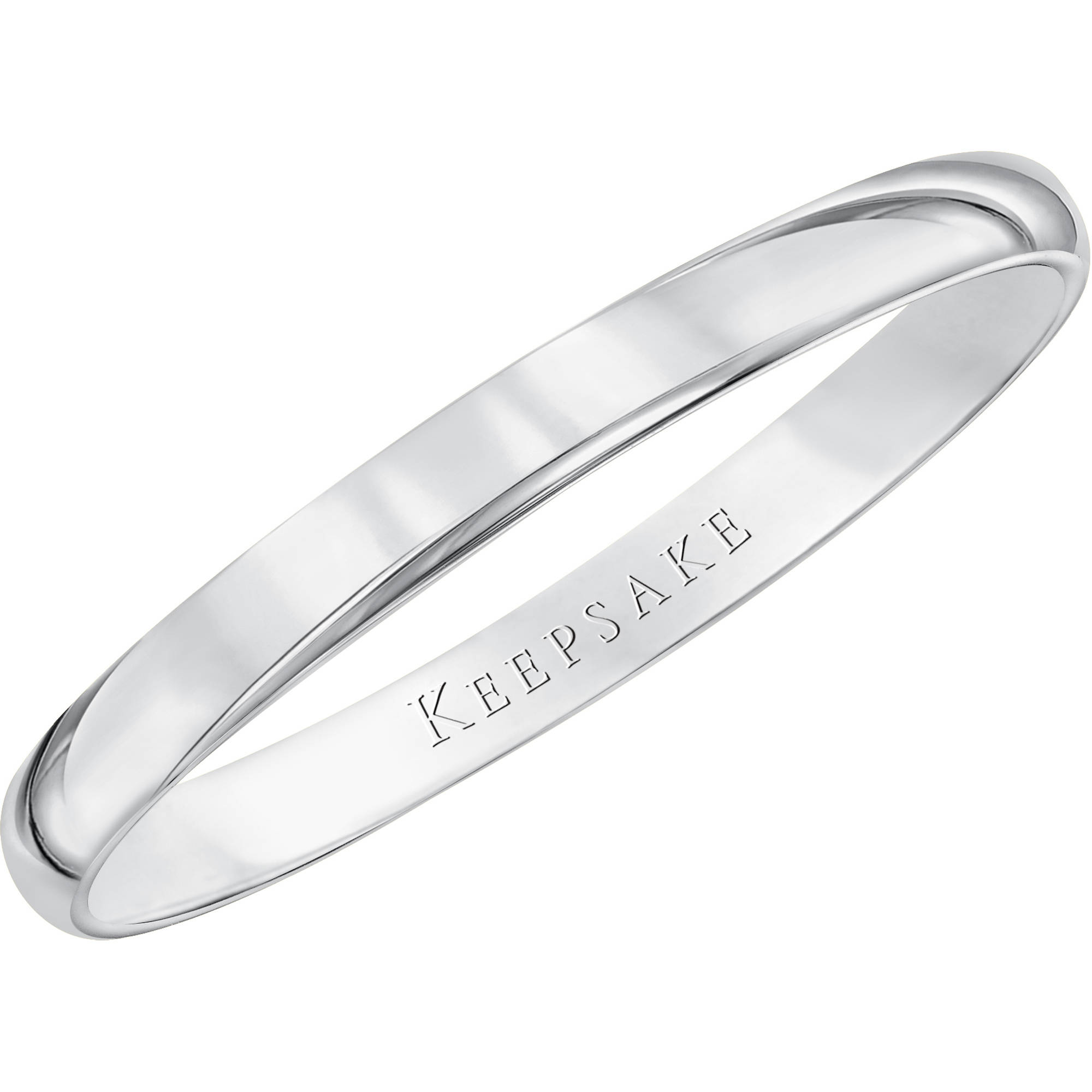 Keepsake 10kt White Gold Wedding Band With HighPolish Finish 2mm