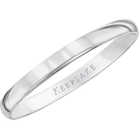 keepsake 10kt white gold wedding band with high polish finish 2mm - White Gold Wedding Ring