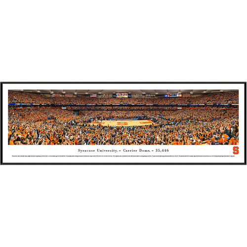 "Syracuse Orange 13"" x 40"" Carrier Dome Standard Frame Panorama"