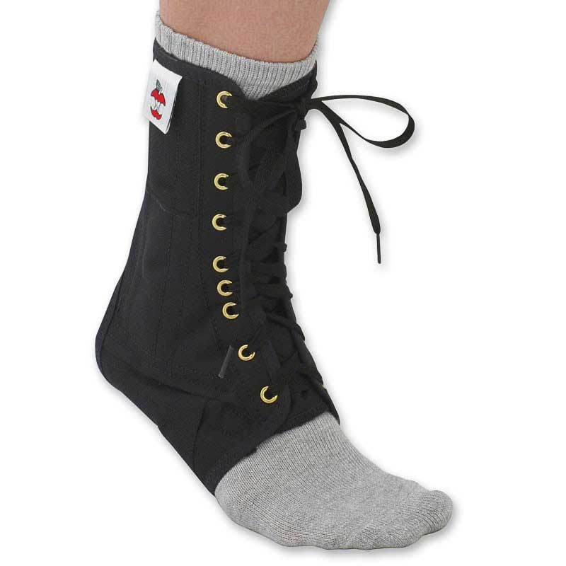Core Products Lace-Up Ankle Support - Black-XS