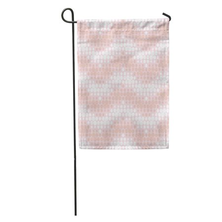 NUDECOR Polka Dot Dusty Rose and White Colors Striped Zigzag Chevron Abstract Site Circle Pattern Screen Garden Flag Decorative Flag House Banner 12x18 inch - image 1 of 2