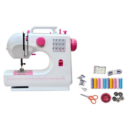 12-Stitch Sewing Machine with Sewing Kit Enjoy making clothes, crafts, and more with the LSS-506 Plus 12-stitch sewing machine with sewing kit.