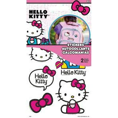 Sticker Stickables Tyvek - Hello Kitty - 2 Sheet New st1407 (Hello Kitty Halloween Coloring Sheets)