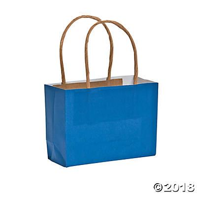 Small Blue Kraft Paper Bags (Pack of 1)