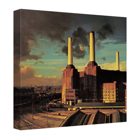 Pink Floyd Animals Canvas Wall Art With Back Board White (Animal Collection Canvas Art)