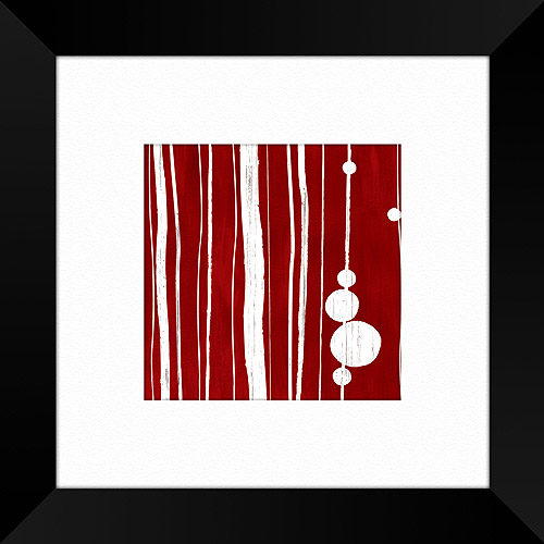 Red Linear Framed Art, I