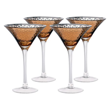 Artland Inc. Leopard Gold Martini Glasses - Set of 4 - Gold Martini Glasses