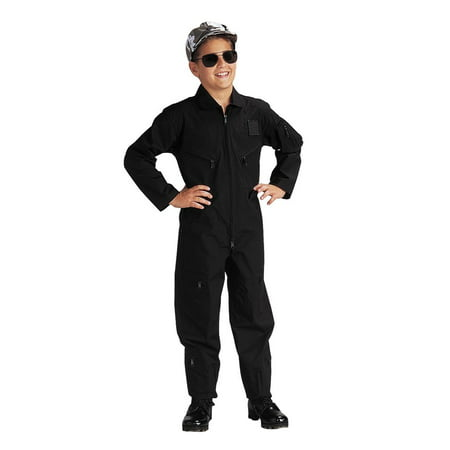 Junior G.I. Air Force Type Flightsuit, Pilot Costume, Black](Xwing Pilot Costume)