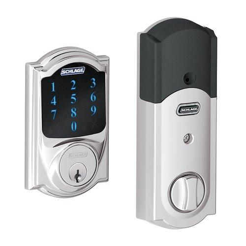 Schlage  BE469NX-CAM  Keyless Entry  Connect  Deadbolt  Electronic  ;Polished Chrome