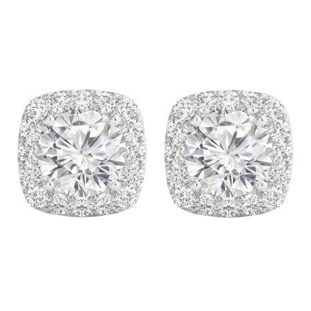 3.00 Carat Brilliant Cut Cubic Zirconia Silver Earrings - image 6 of 6