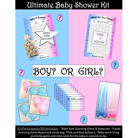 ULTIMATE Baby Shower Party Kit 50 Participants - for Boy or Girl/Gender Unknown](Toddler Boy Party Themes)