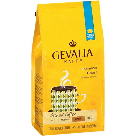 Gevalia Kaffe Espresso Dark Roast Ground Coffee, 12 OZ (340g)