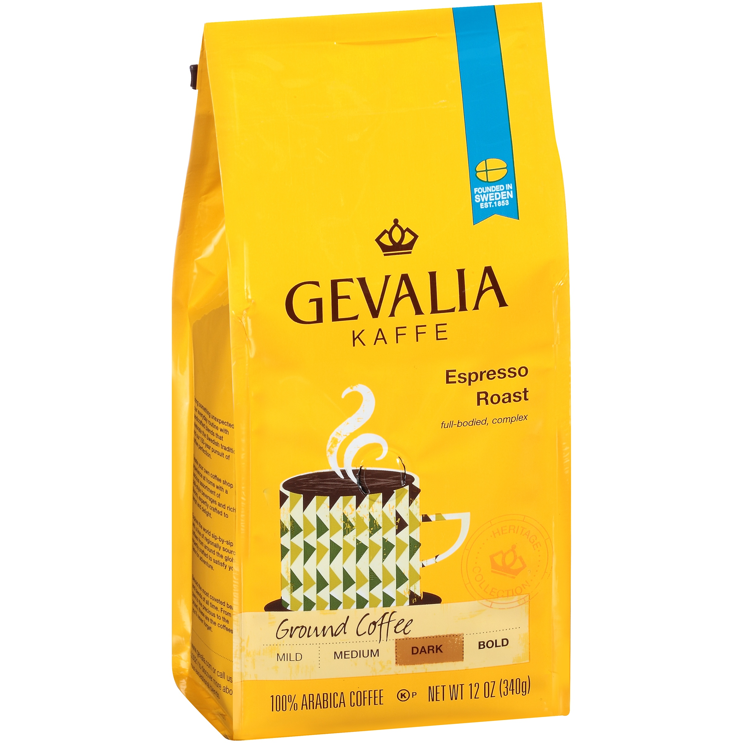 Gevalia Kaffe Espresso Dark Roast Ground Coffee, 12 OZ (340g)