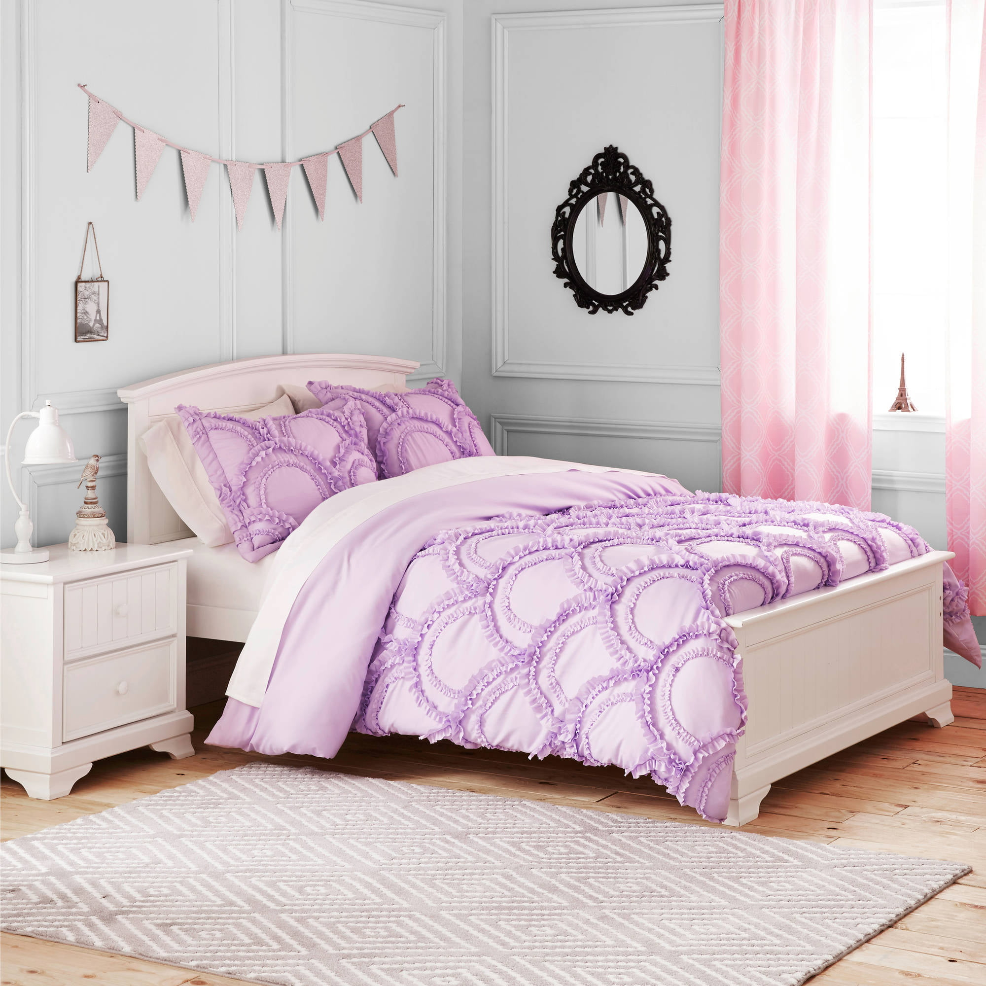 Better Homes And Gardens Kids Ruffle Fans Bedding Comforter Set    Walmart.com