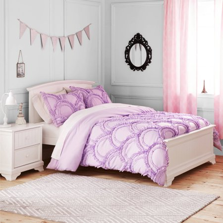 Better homes and gardens kids ruffle fans bedding comforter set for Better homes and gardens bed in a bag