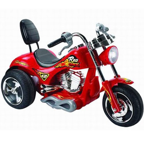 Big Toys Red Hawk 12V Battery Powered Motorcycle by Big Mouth iNC