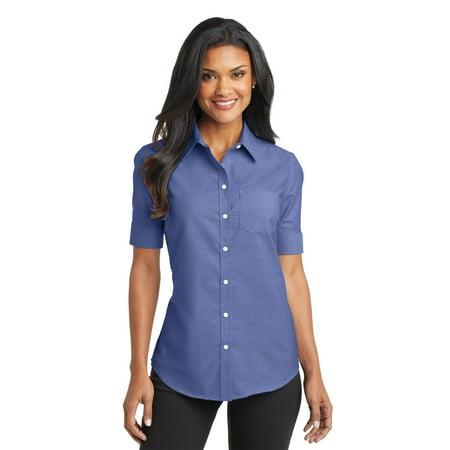 ff776bcff Port Authority® Ladies Short Sleeve Superpro™ Oxford Shirt. L659 ...