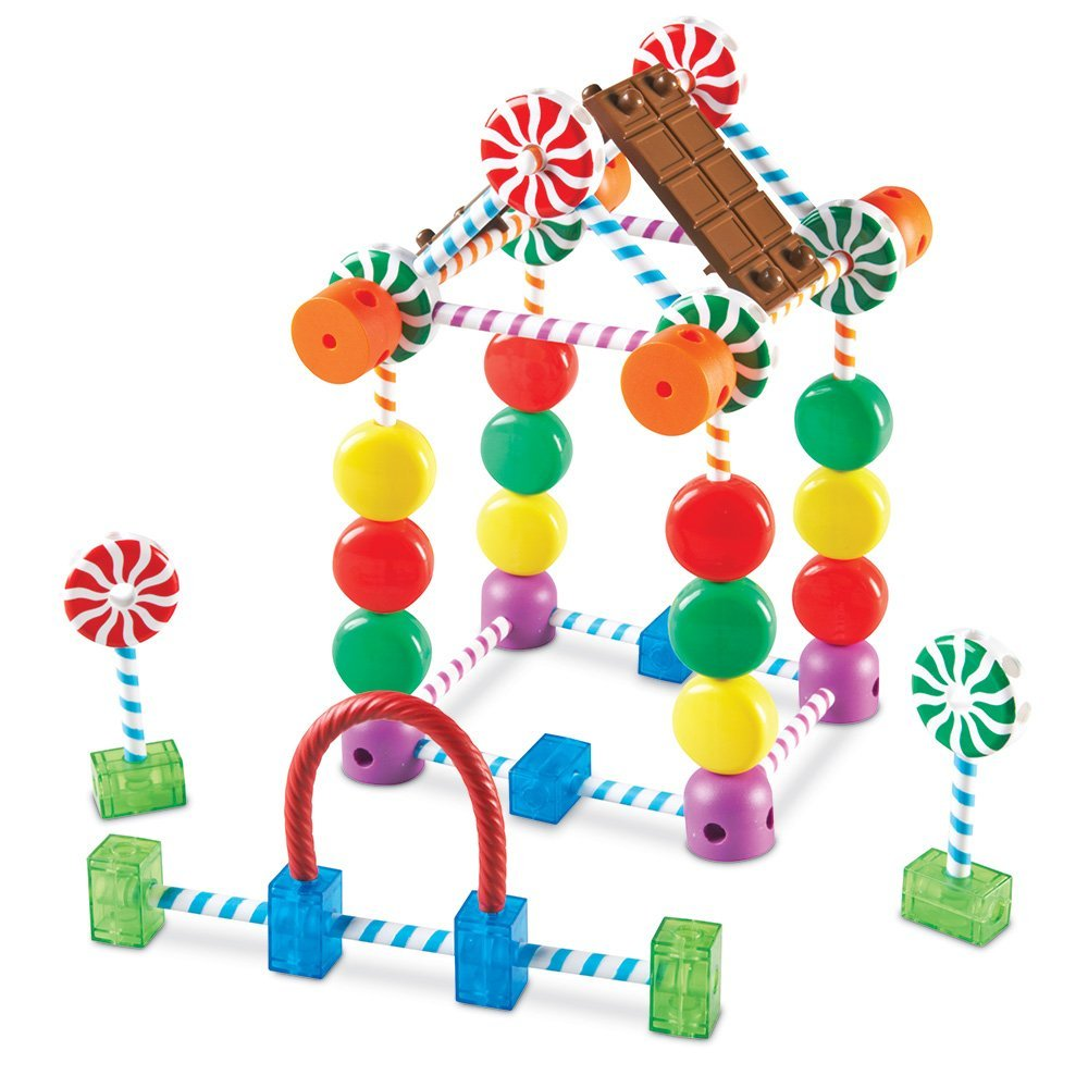 Candy Construction Building Set, Build sweet structures with sticks, swirls, gumdrops, and more