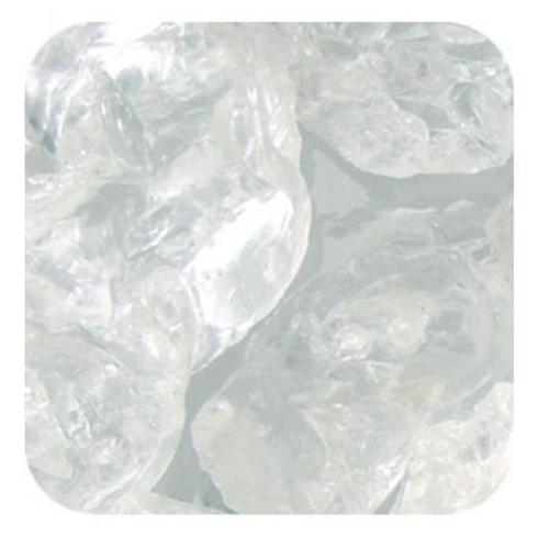 Sandtastik Ice10Lbcubclr Sandtastik Ice Real Glass Gems  Table Scatters & Vase Filler Clear Cubes - 10 Lb