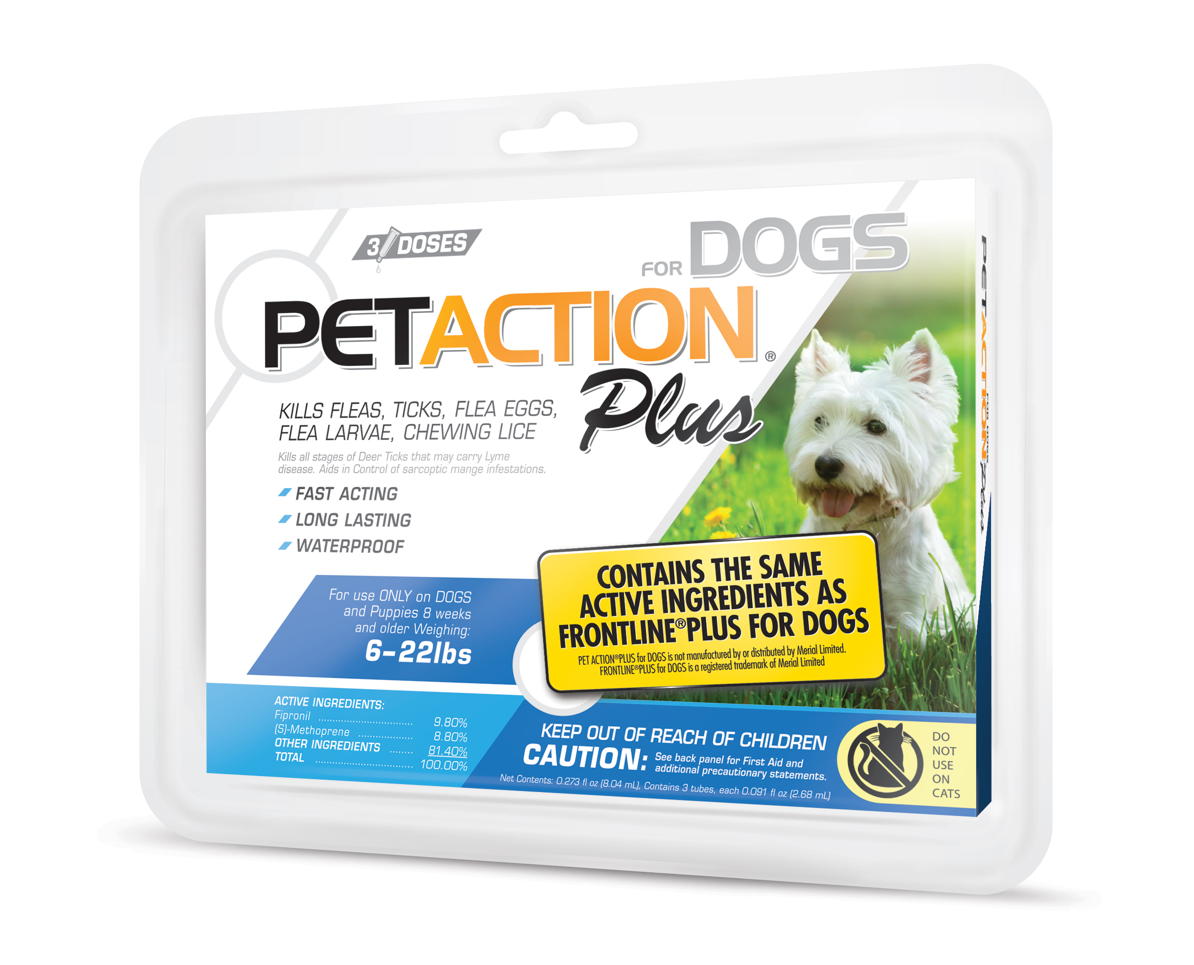 PetAction Plus Dog Insect Treatment - 5-22lbs