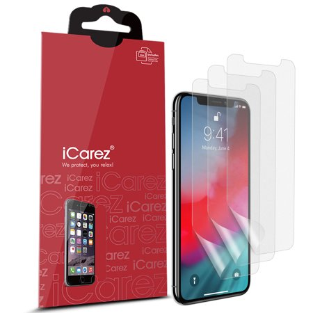 iCarez [HD Anti Glare] Matte Screen Protector for iPhone XS /iPhone 10S 5.8-Inch [3 Pack] (Case Friendly) No Bubble Easy Install with Lifetime Replacement