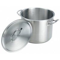 Stock Pot w/Cover, 8 qt, 11 In., SS