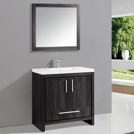 MTD Vanities Miami 36'' Single Sink Bathroom Vanity Set ...