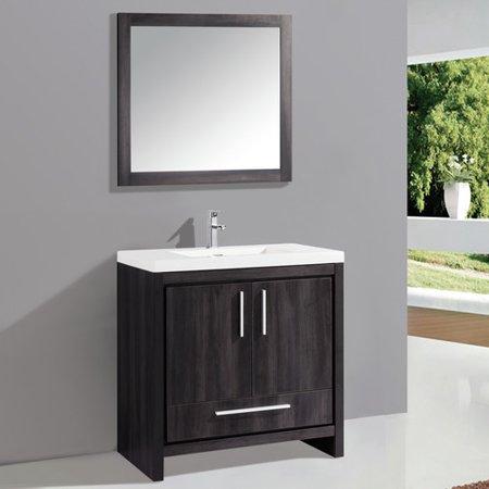 Mtd vanities miami 36 39 39 single sink bathroom vanity set for Bathroom cabinets miami