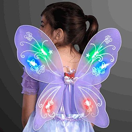 Light Up Purple Fairy Butterfly Wings by LED Halloween Costume for Trick or Treating and Night Time Safely, Make sure your kids can be seen at.., By blinkee