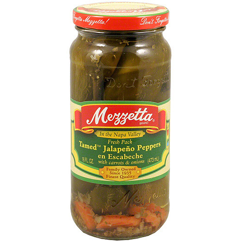 Mezzetta Tamed Jalapeno Peppers With Car