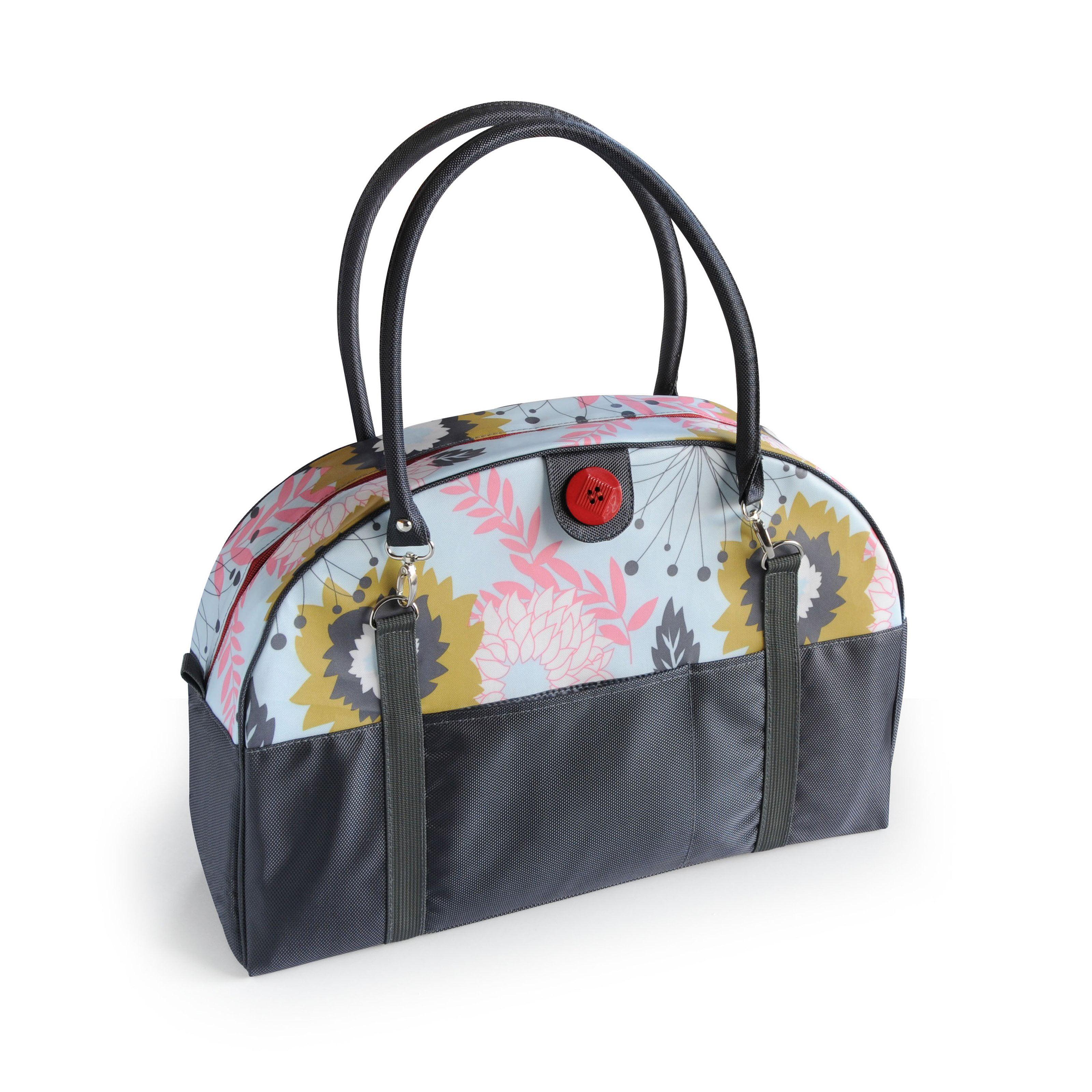 Image of 2 Red Hens Coop Carry-All Diaper Bag - Pink Lemonade