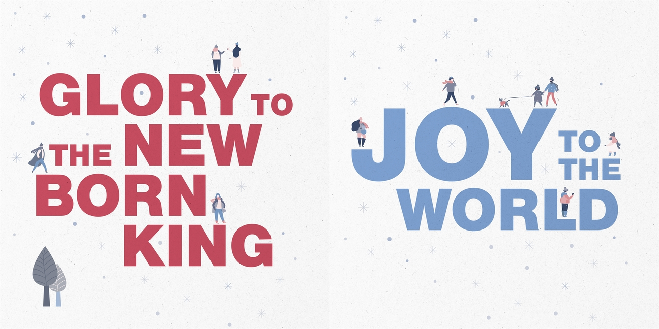 Christmas Songs 10 Pack Christmas Cards Glory To The New Born King And Joy To The World Other Walmart Com Walmart Com