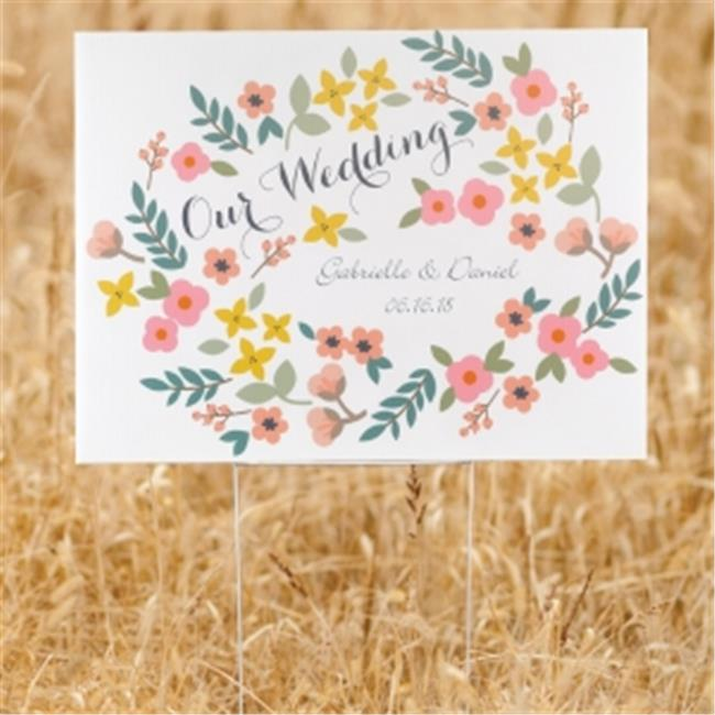Hortense b Hewitt 35687P Retro Floral Yard Sign - personalized