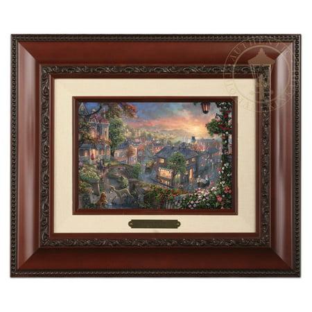 Thomas Kinkade Candles - Thomas Kinkade Lady and the Tramp – Brushwork (Brandy Frame)