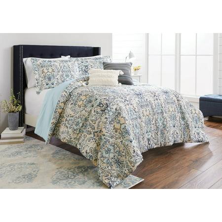 Better Homes & Gardens Full or Queen Moghul Paisley Comforter Set, 5 Piece ()