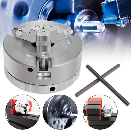 3 Jaw Self-Centering Lathe Chuck M12*1 45mm Self Centering Hardened For Mini 6 in 1 Lathe +Two Lock -