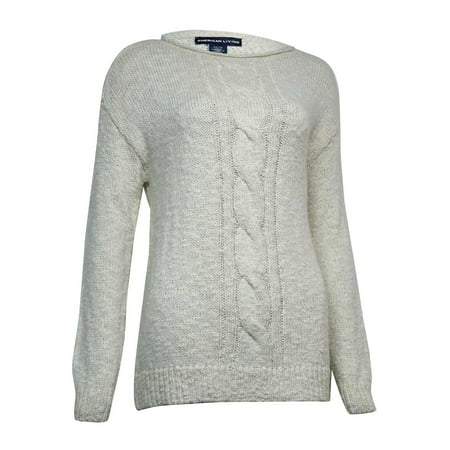 Day Trip Cable Sweater - American Living Women's Metallic Marled Cable Sweater